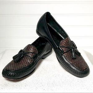 Cole Haan Country Black Brown Tassel Loafers, 7